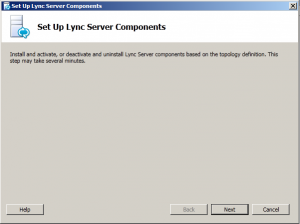 3. Set up Lync Server Components