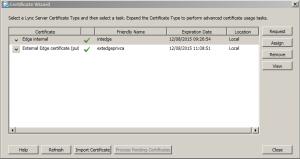 4. Certificates